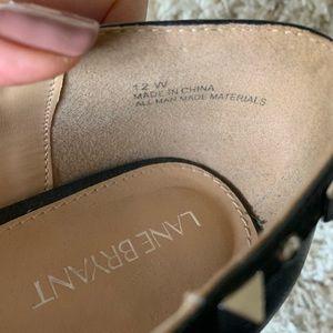Lane Bryant Shoes - Lane Bryant Black Studded Pointed Toe Flats